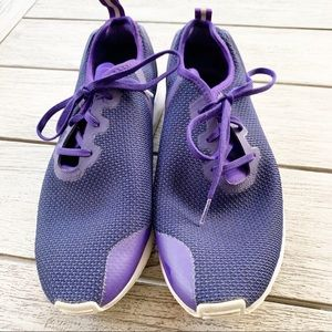 ADIDAS Purple Off Center Lace Up Sneaker